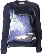 Emma Cook Satin Front Sweatshirt - Lyst