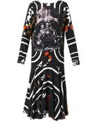 Preen By Thornton Bregazzi Vader Darth Vader-Print Silk Dress - Lyst