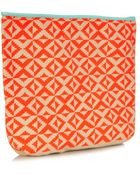 Sophie Anderson Camille Woven-Cotton Clutch - Lyst