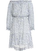 Diane von Furstenberg Camila Printed Silk Dress - Lyst