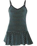 Rodarte Striped Velour Tunic Camisole - Lyst