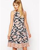 Oasis Rose 50'S Dress - Lyst