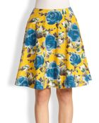 Marc By Marc Jacobs Floral-Print Circle Skirt - Lyst