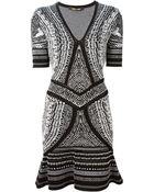 Roberto Cavalli Knitted Flared Dress - Lyst
