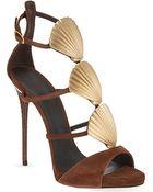 Giuseppe Zanotti Seashell Heeled Sandal - For Women - Lyst