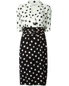 Yves Saint Laurent Vintage Dotted Dress - Lyst