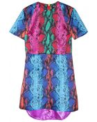House of Holland Snake Short Sleeve Dress - Lyst