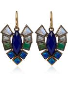 Nak Armstrong Gold Lapis Lazuli and Quartz Earrings - Lyst