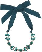 Lanvin Green Icon Crystal Necklace - Lyst