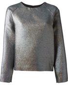MSGM Sparkly Raglan Sleeve Boxy Sweatshirt - Lyst