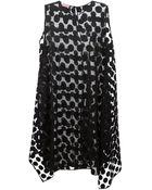 Giamba Circle Embroidery Sheer Dress - Lyst