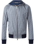Michael Kors Checked Hooded Jacket - Lyst