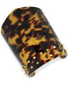 Vince Camuto Goldtone Studded Wide Cuff Bracelet - Lyst
