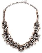 Valentino Floral Crystal Satin Necklace - Lyst