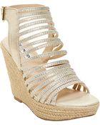 Steve Madden Garrden Wedge Sandals - Lyst