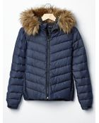 Gap Fur-Trim Down Puffer - Lyst