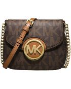 MICHAEL Michael Kors Fulton Monogram Small Crossbody Bag - Lyst