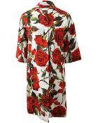 Dolce & Gabbana Rose Coat - Lyst