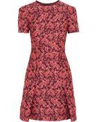 Erdem Aubrey Floral-Jacquard Mini Dress - Lyst