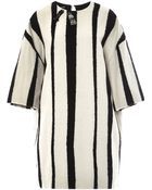 Rochas Striped Wool Dress - Lyst