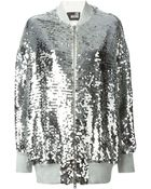 Love Moschino Sequin-Embellished Zip-Through Jacket - Lyst