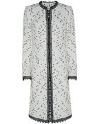 Oscar de la Renta Tweed Bouclã© Coat - Lyst
