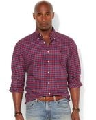 Polo Ralph Lauren Big And Tall Classic-Fit Checked Poplin Shirt - Lyst