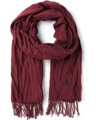 Polo Ralph Lauren Fringed Scarf - Lyst