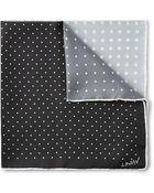Lanvin Four-Tone Polka-Dot Silk Pocket Square - Lyst