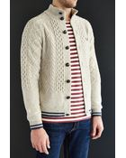 Fred Perry Tipped Sailor Cardigan - Lyst