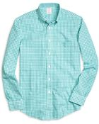 Brooks Brothers Non-Iron Brookscool® Regent Fit Small Plaid Sport Shirt - Lyst