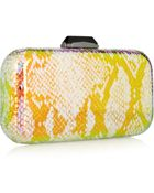KOTUR Breen Holographic Snake Box Clutch - Lyst
