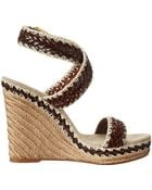 Tory Burch Wedge Sandals - Lyst