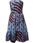 Peter Pilotto Strapless A-Line Dress - Lyst