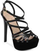 Jessica Simpson Evans Strappy Platform Sandals - Lyst