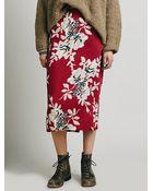 Free People Womens Lax Print Skirt - Lyst