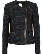 Rebecca Taylor Leather-Trimmed Bouclã© Jacket - Lyst