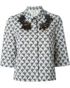 Antonio Marras Embellished Floral Shirt - Lyst