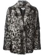 Elizabeth And James Garcia Leopard Print Coat - Lyst