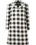 Dolce & Gabbana Checked Coat - Lyst