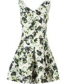 Oscar de la Renta Leaf Dress - Lyst