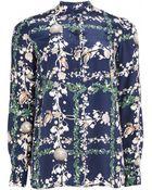 Matthew Williamson Fantasy Plaid Silk Shirt - Lyst