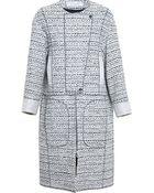 Nina Ricci Tweed Coat - Lyst
