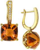 Frederic Sage Jelly Bean Citrine & Diamond Drop Earrings - Lyst