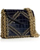 Tory Burch Chain-Gusset Shoulder Bag - Lyst