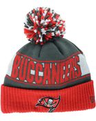 New Era Tampa Bay Buccaneers Rep Your Team Pom Knit Hat - Lyst
