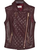 Temperley London Quilted Leather Vest - Lyst