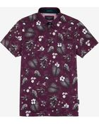 Ted Baker Tropical Print Polo Shirt - Lyst