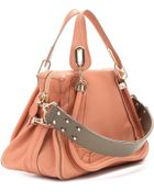 Chloé Paraty Medium Leather Shoulder Bag with Military Strap - Lyst