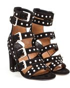 Laurence Dacade Suede Studded Sandals With Five Straps - Lyst